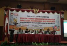 KPU Provinsi NTB bersama KPU Kabupaten/kota menggelar Rapat Pleno Terbuka Rekapitulasi Hasil Verifikasi Faktual Dukungan Bakal Calon Perseorangan Hasil Perbaikan (Hariannusa.com/f3)
