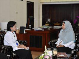 Wakil Gubernur NTB, Dr. Hi. Sitti Rohmi Djalillah menerima kedatangan Kepala BPOM NTB, Ni Nengah Suarningsih (istimewa)